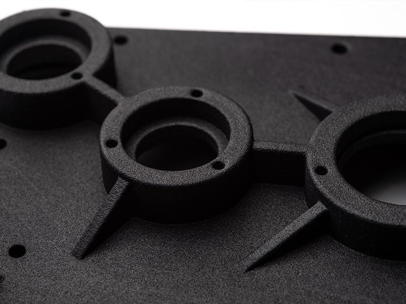 Multi Jet Fusion 3D Printing Sample zoomed in