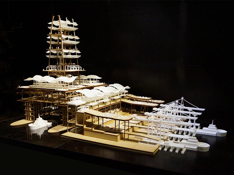 White SLA 3D Printing Architecture Model