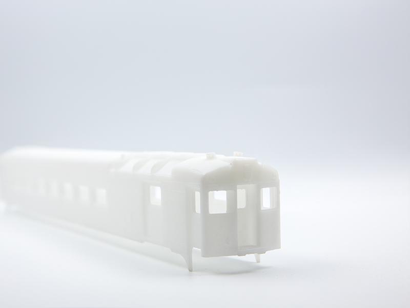 White SLA 3D Printing Train Model